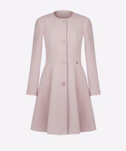 abrigo largo para mujer color rosa