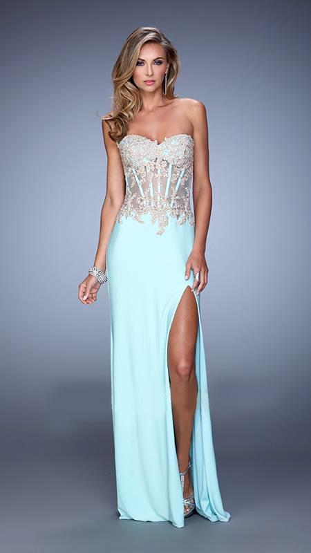 Vestido de fiesta con corsette y pedrería