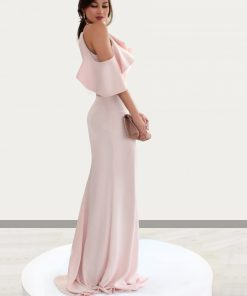 vestido de fiesta halter palo de rosa