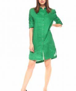 vestido camisero verde