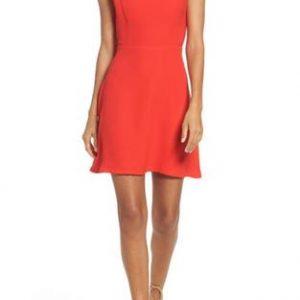 vestido rojo corto sencillo