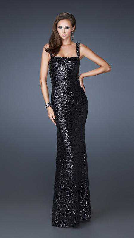 0232086a7cf5 Vestido de Fiesta Negro de Lentejuelas