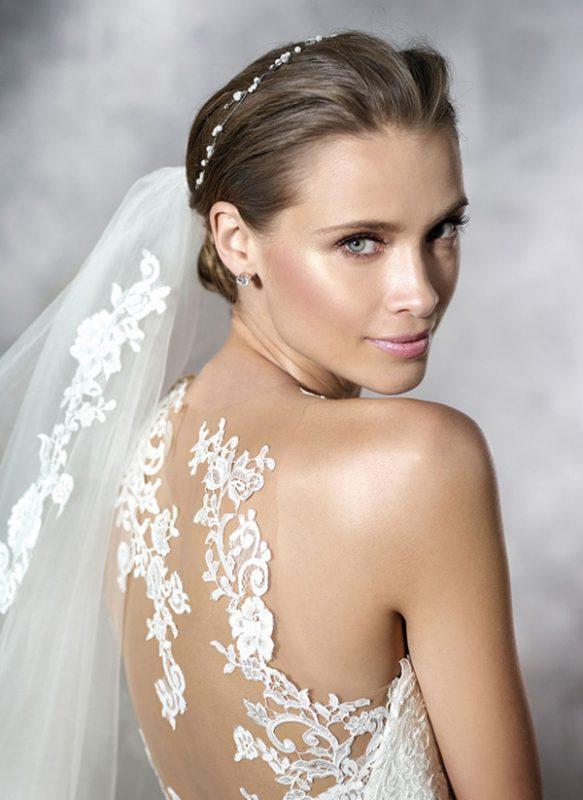 vestido de novia efecto tatuaje