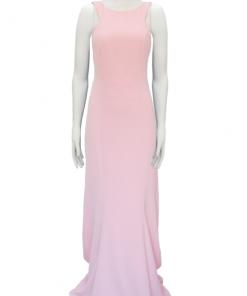 vestido de fiesta largo color rosado