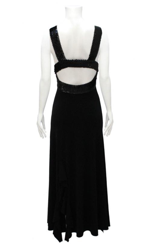 vestido de fiesta negro con lentejuelas