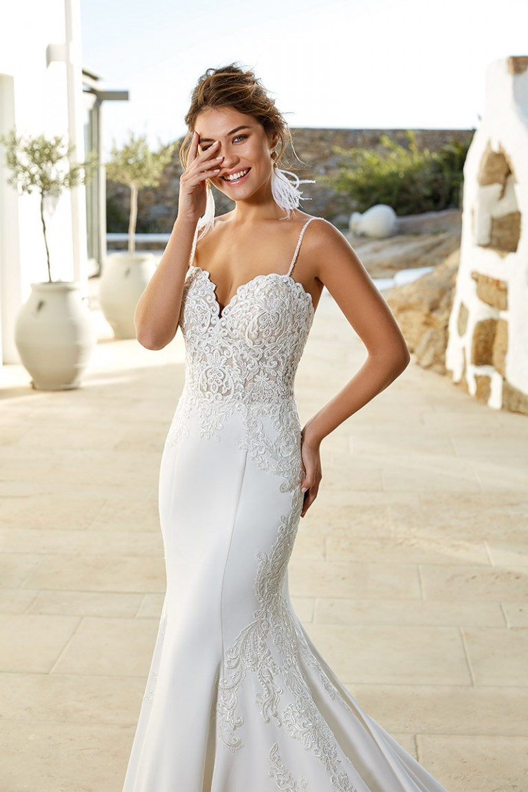 vestido de novia estilo sirena marca eddyk