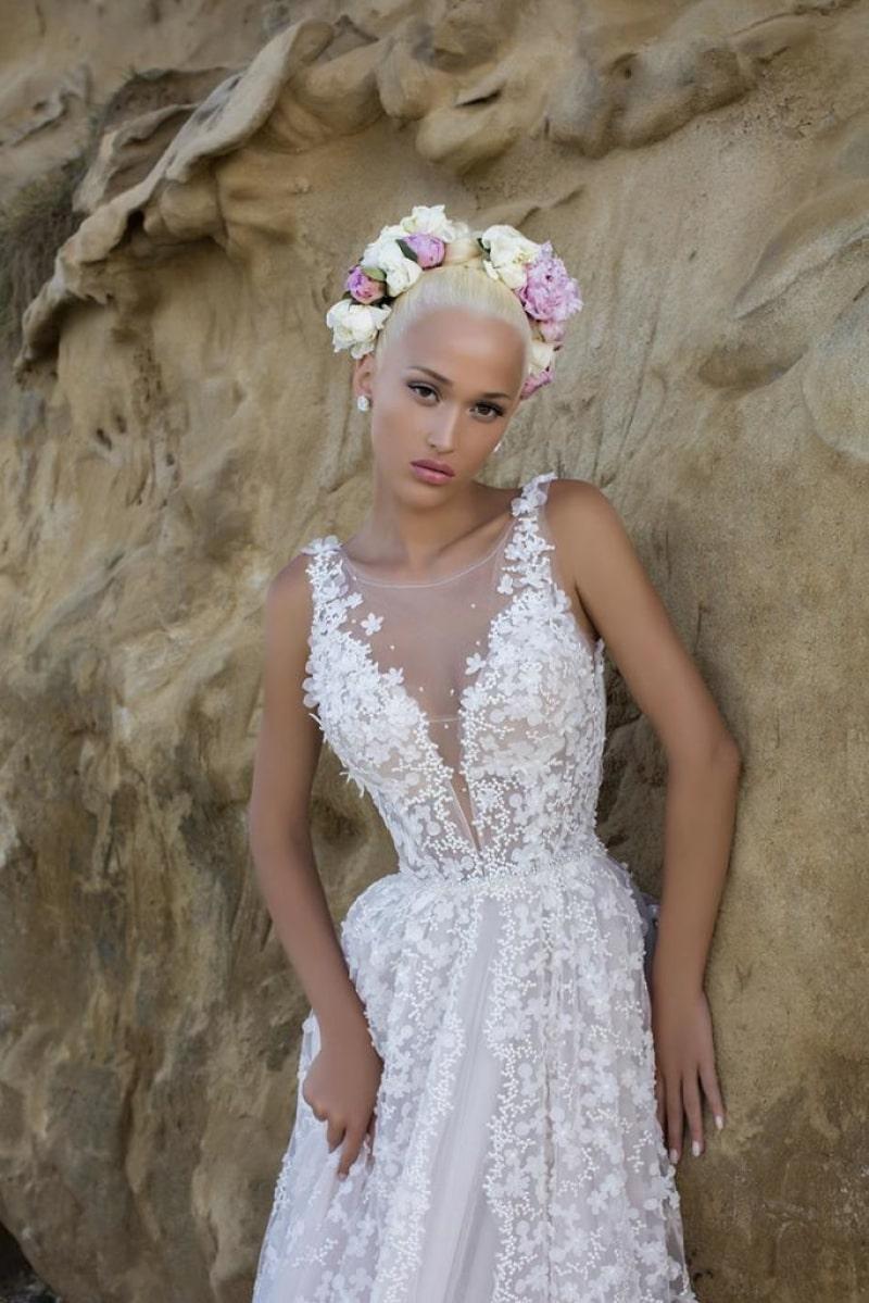 vestido de novia princesa con encaje