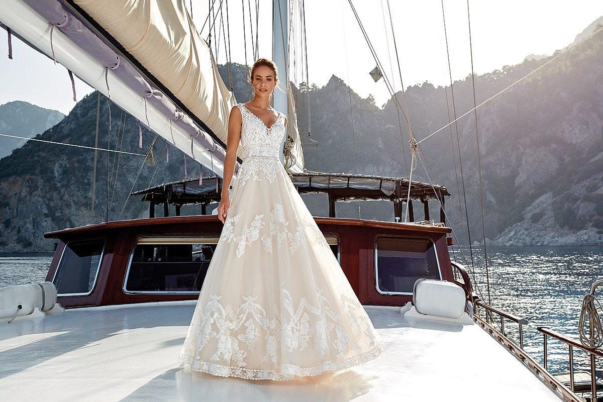 vestido de novia linea A