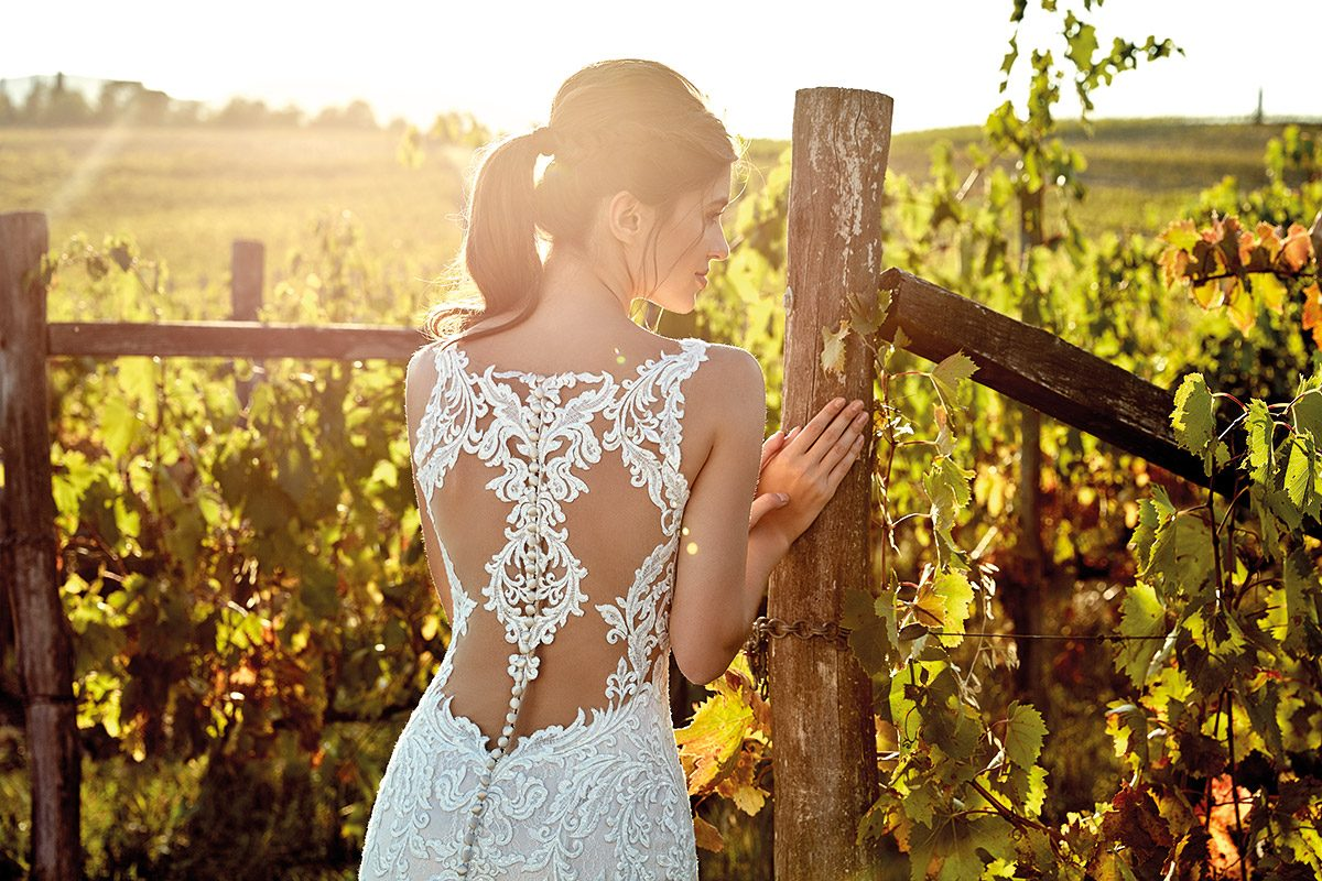 Vestido de novia con encaje estilo sirena