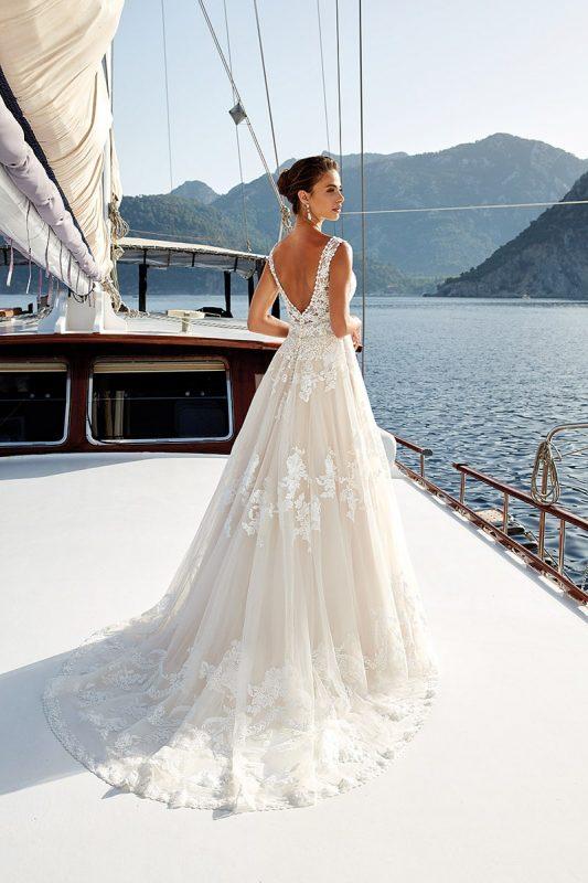 Vestido de novia Priska coleccion 2019 marca eddyk