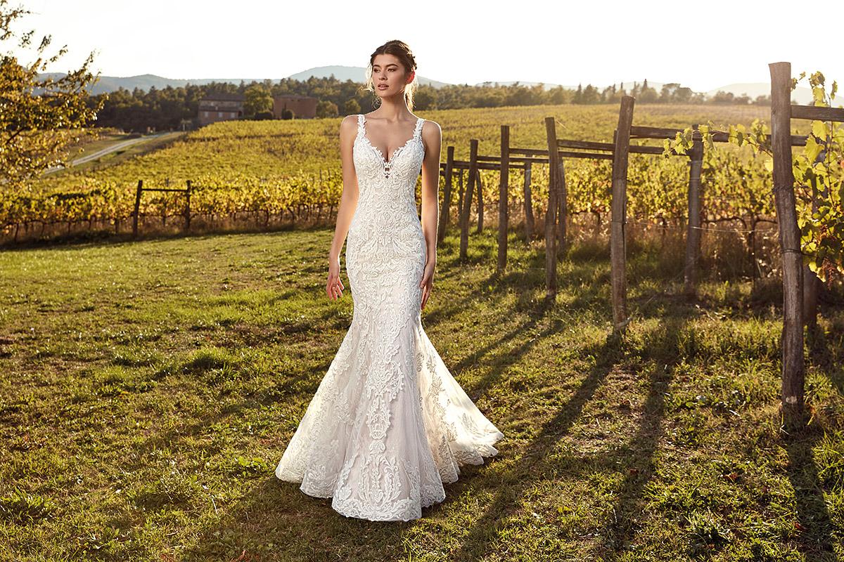 Vestido de novia estilo sirena EK1203_completo