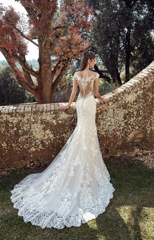 vestido de novia sirena con espalda cubierta