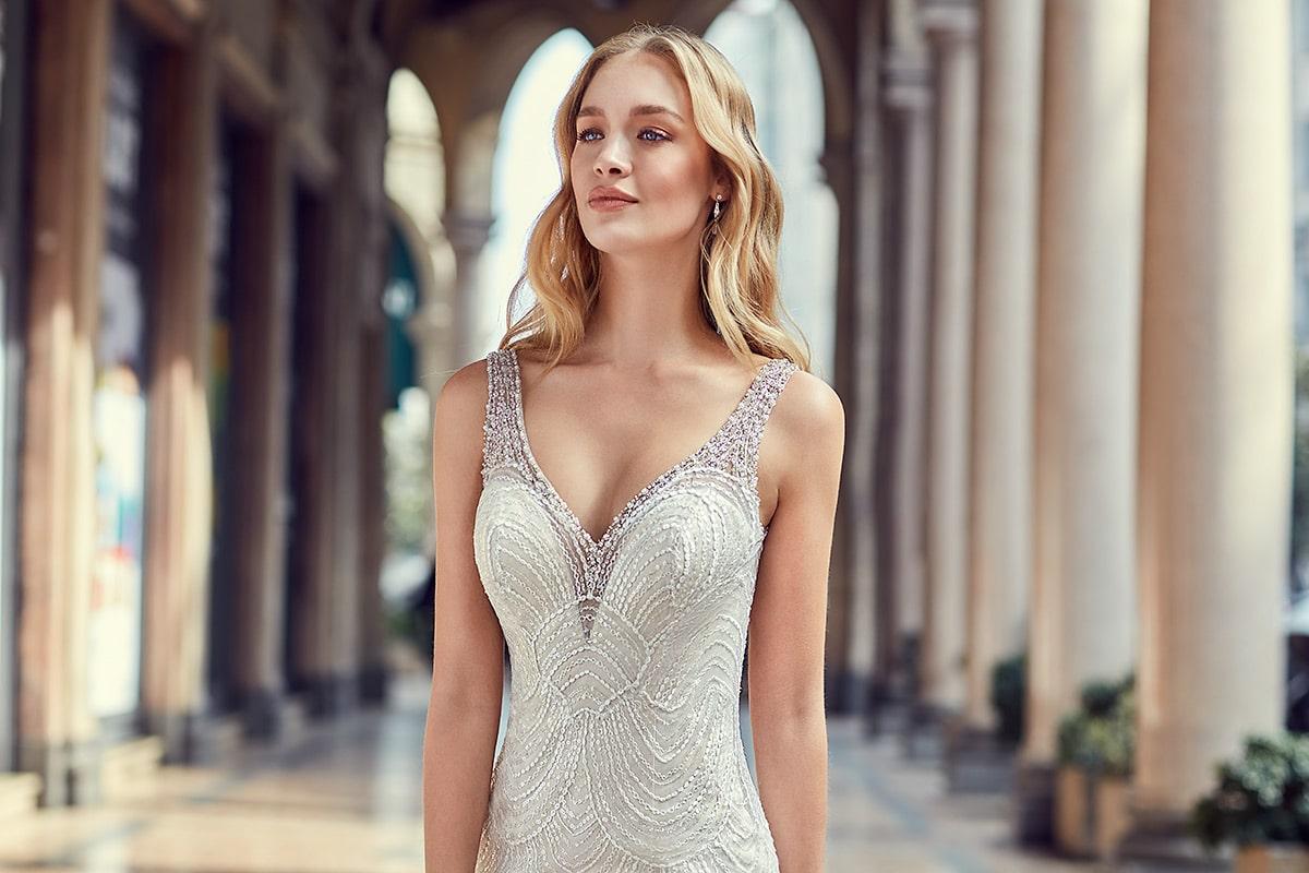 Vestido de novia corte sirena marca Eddy K