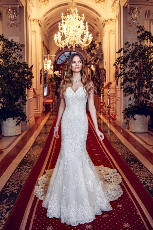Vestido de novia sirena strapless EK1151