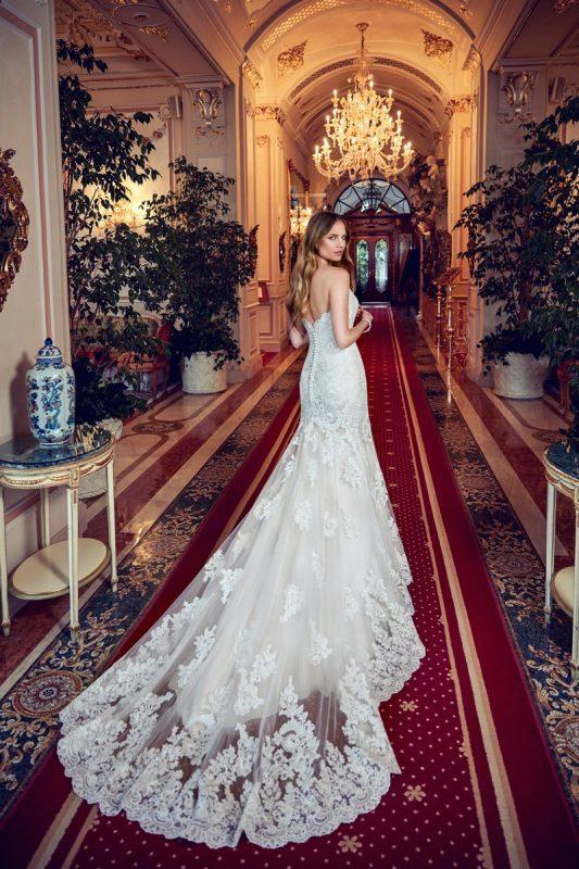 Vestido de novia sirena strapless EddyK