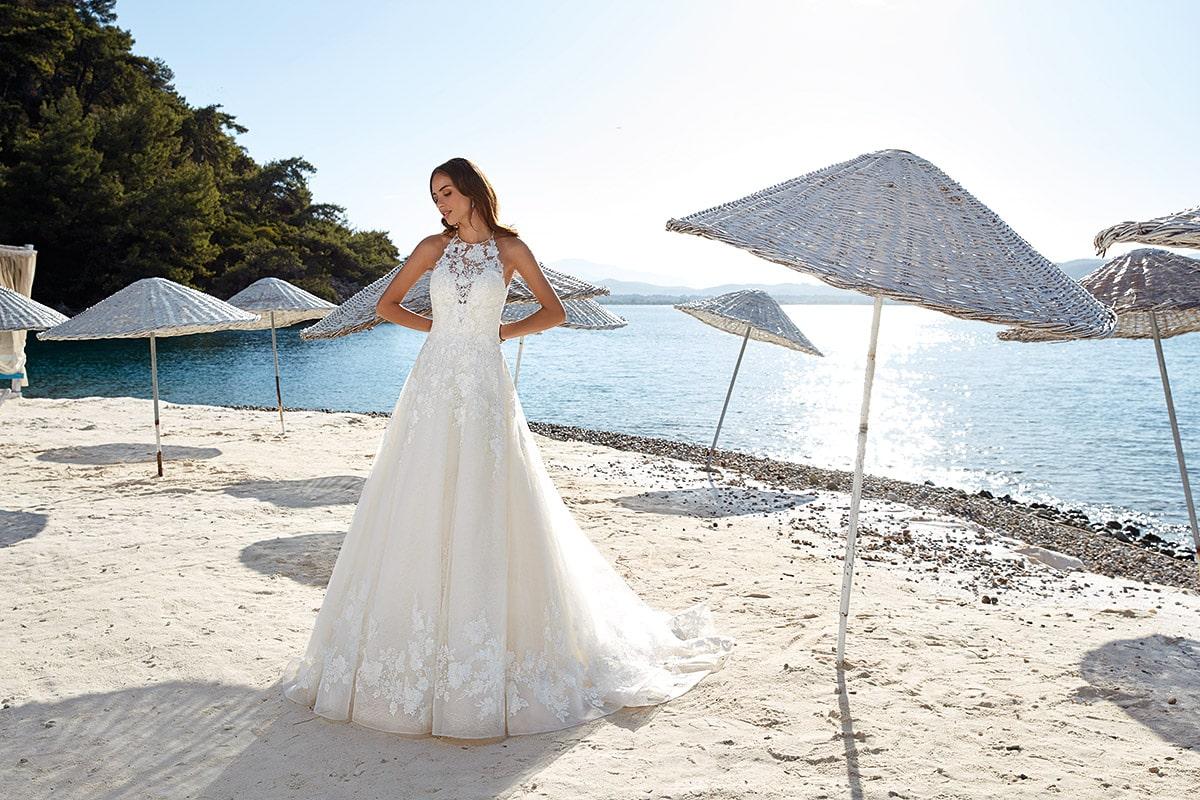 vestido de novia Milena colección 2019 marca eddyk