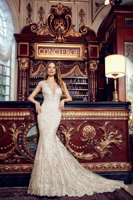 Vestido de novia sirena EK1131 champaña