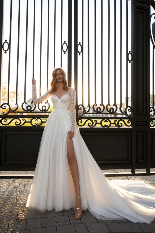 Vestido de novia princesa con mangas