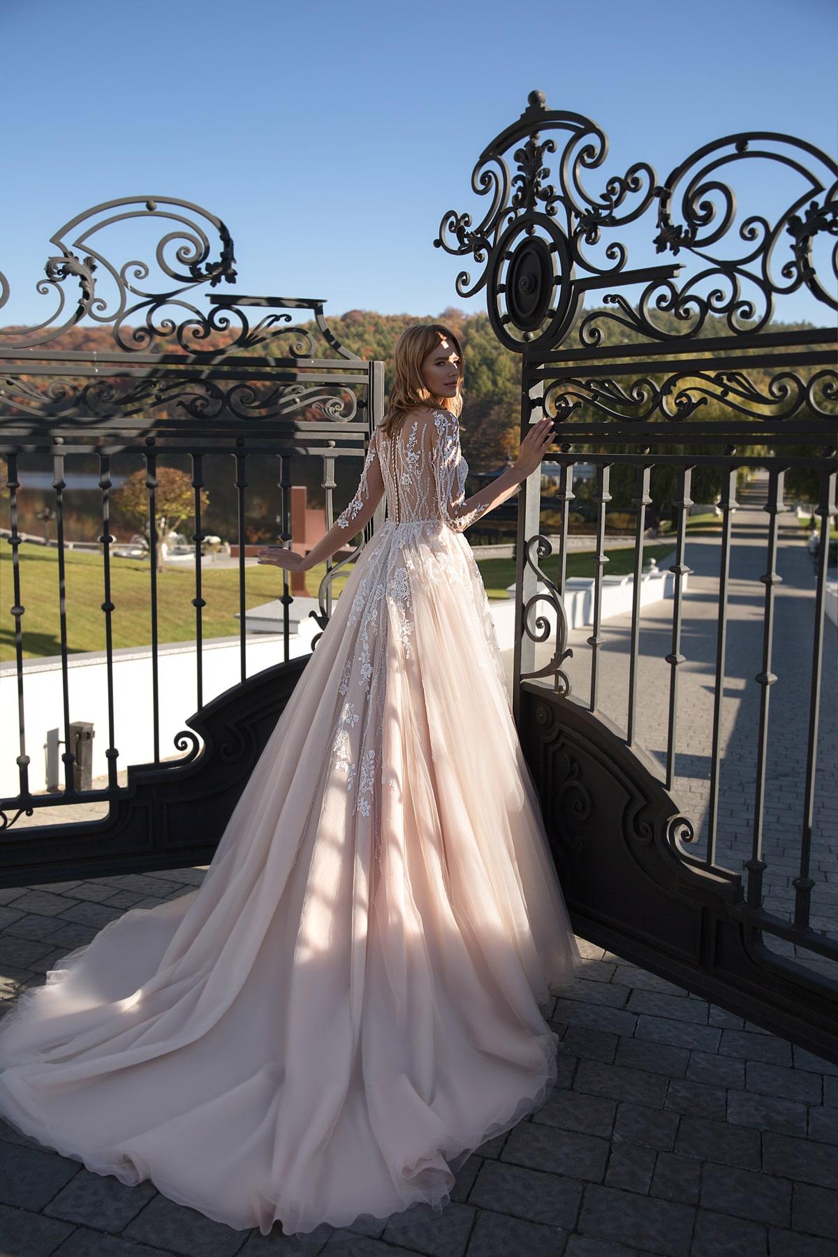 Vestido de novia con mangas Mayo
