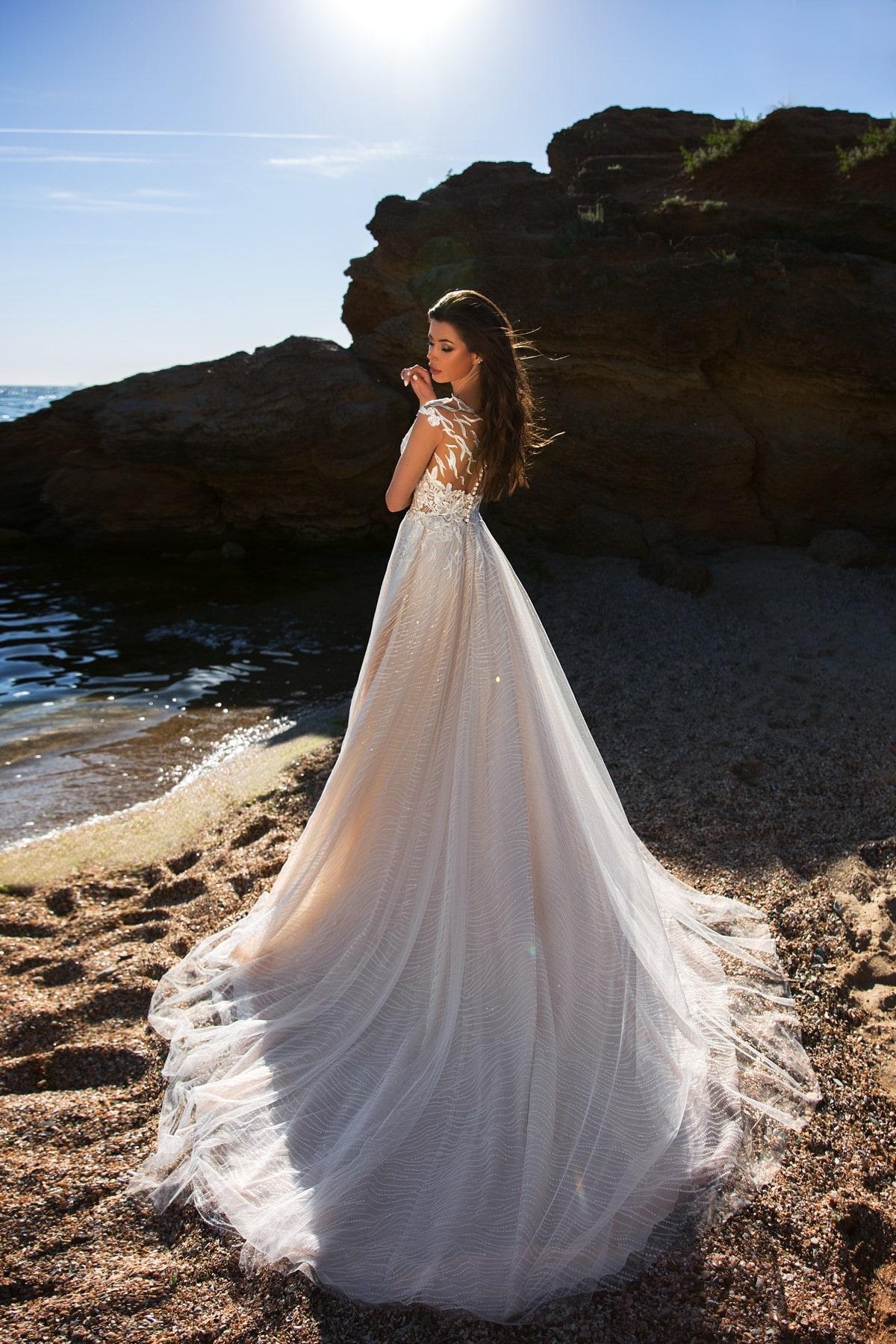 Vestido de novia para playa