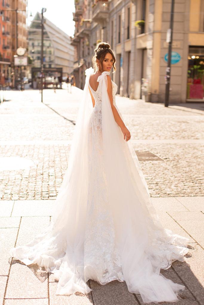 vestido de novia Mimi de silueta en A disponible para alquiler
