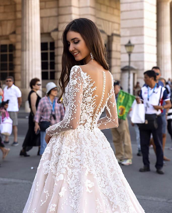 vestido de novia con mangas para alquiler en bogota