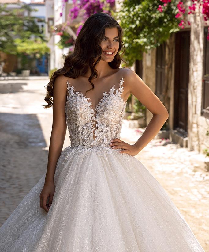 vestido de novia princesa brillante en bogota