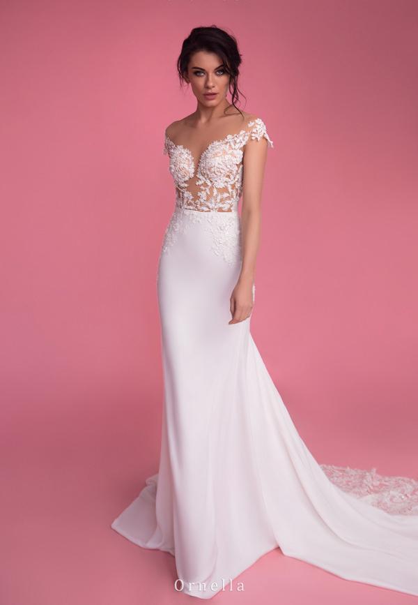 vestido de novia estilo sirena sencillo para alquiler en bogota colombia