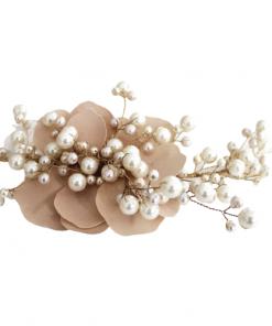 tocado para novias de flores