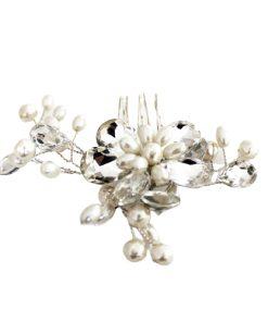 pin flor plateado novias