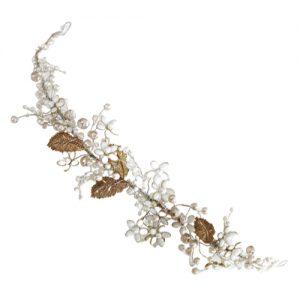 tocado para novias flores blancas